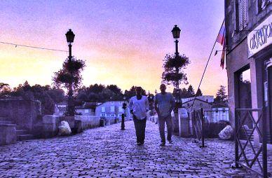 evening stroll after dinner