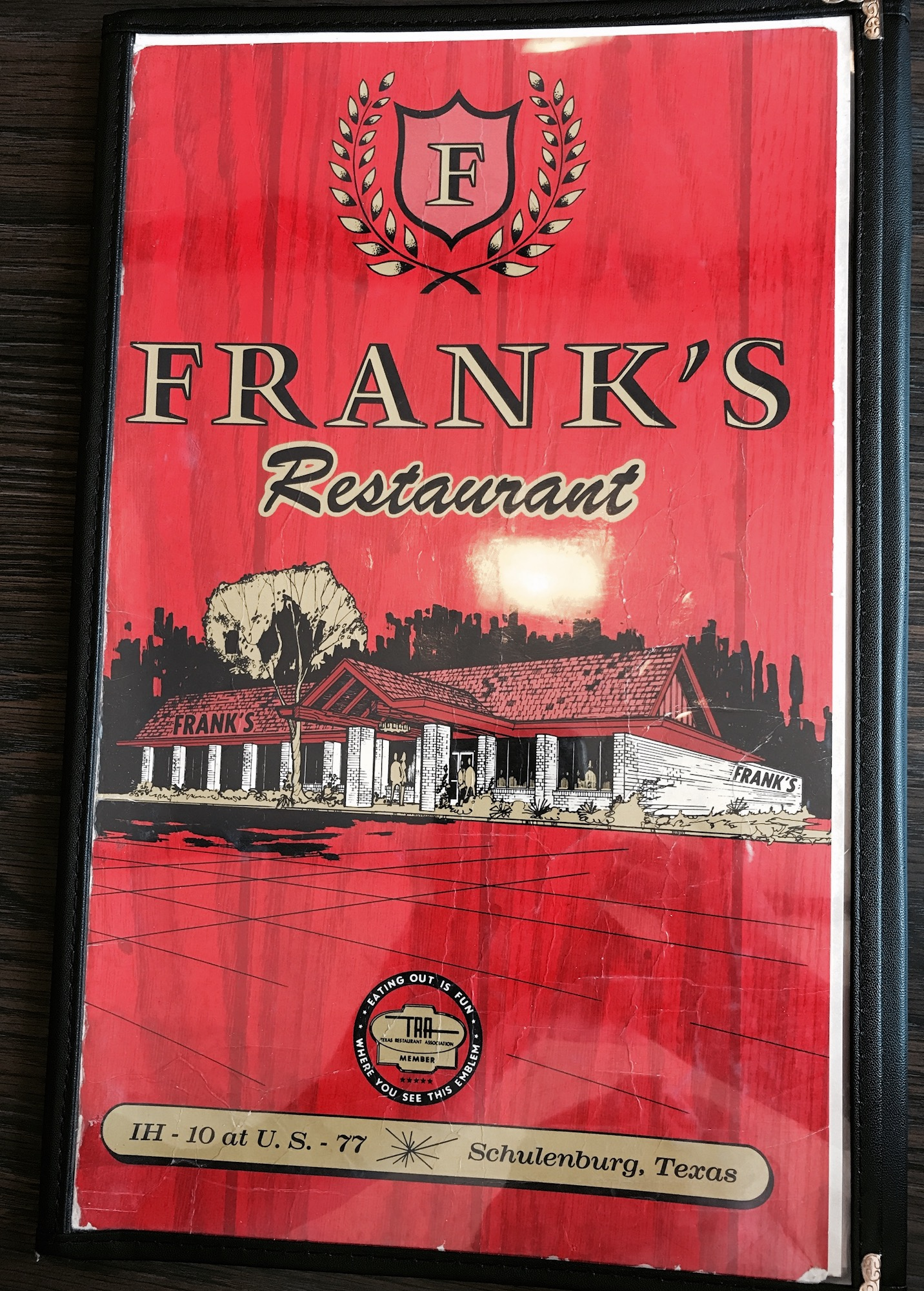 Frank's Menu Cover