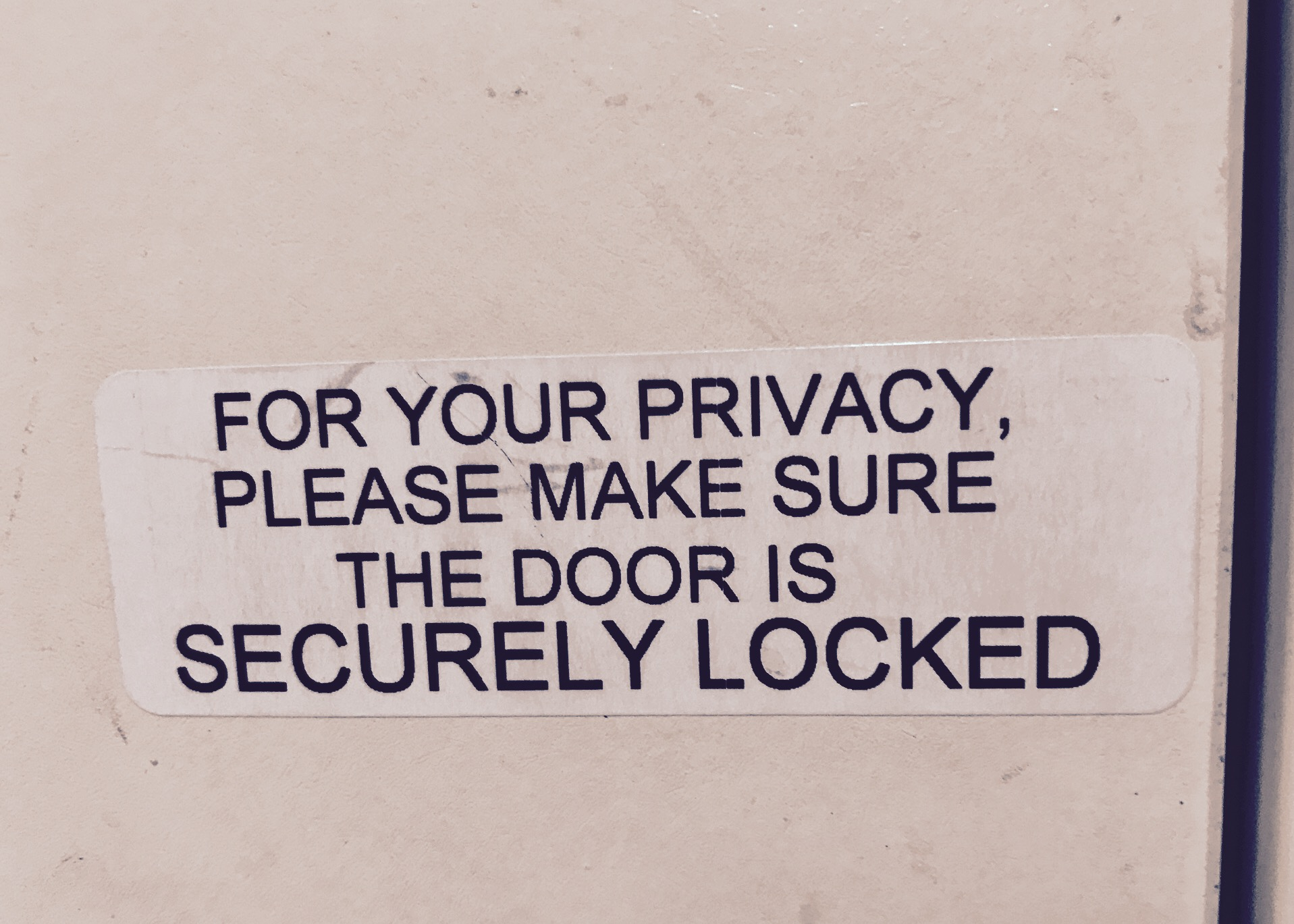 For Your Privacy
