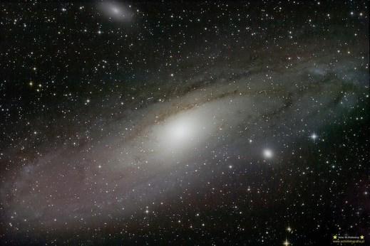 M31. Teleskop C6N (Newton 150/750) Korektor komy MPCC - ISO800 20x240 sekund, 300D, autoguide via GuideMaster, montaż Vixen GPD2.