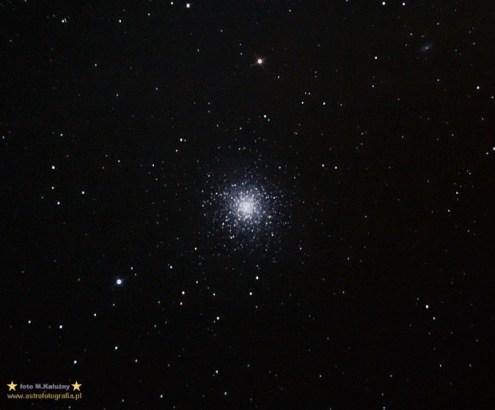 M13. Teleskop C6N (Newton 150/750) - ISO1600 20x120 sekund, montaż Vixen GPD2.