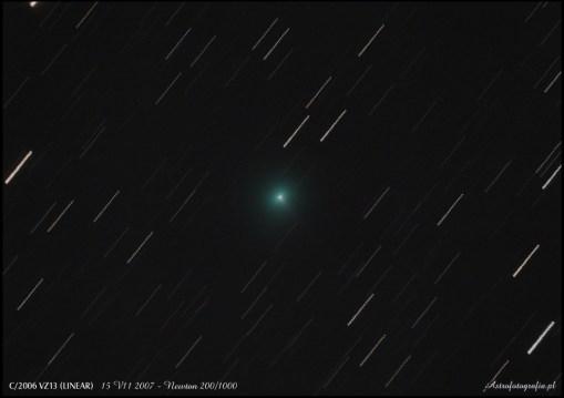 """Kometka """"lornetkowa"""" - jedno zdjęcie ze względu na pogodę porę roku oraz usytuowanie. Canon 300D mod. + SkyWatcher 200/1000 - 19x 60"""" ISO400"""