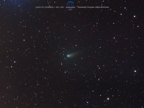 Kometa C/2015 V2 (Johnson). 8x 120s L + 4x120s RGB. Takahashi FSQ106N + SBIG ST2000XM.