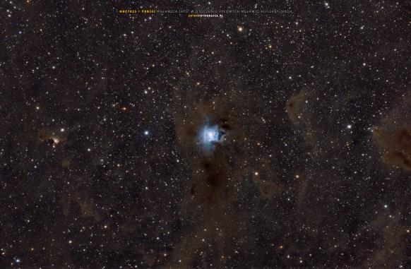 NGC7023 + okoliczne mgławice pyłowe