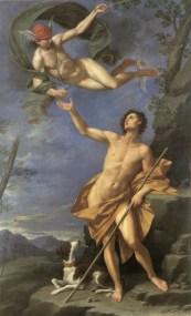 Mercurio y París, Donato Creti, 1745, Palazzo Accursio Bologna
