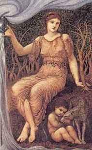 Earth_Mother (Madre Tierra), Edward_Burne_Jones,1882JAW, Worchester Art Museum