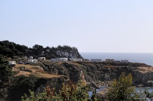 Arriving at Ocean Cove campground