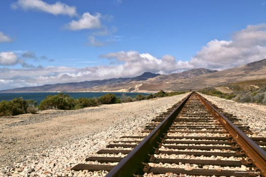 Railroad past Jalama Beach
