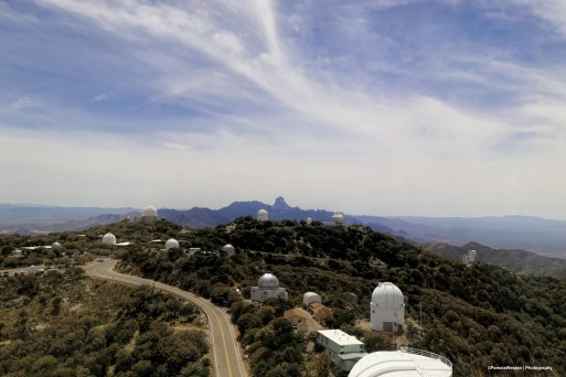 The telescopes from the 4M Mayall Telescope