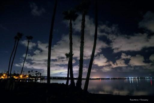 Night lights on Mission Bay