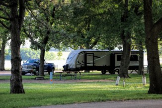 In the campground
