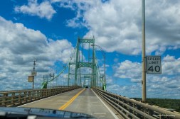 Up and over the 1000 Islands Bridge