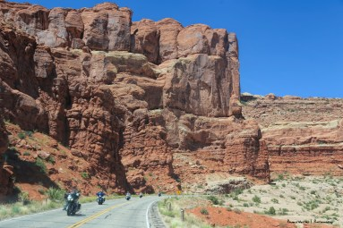 On the road into Arches