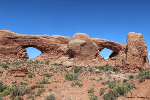North and South window arches
