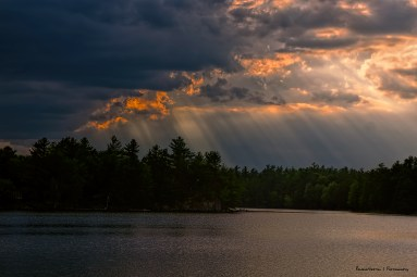 Beautiful crepuscular rays