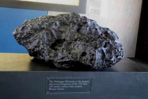 A piece of the actual 150 foot wide meteor that made this amazing crater
