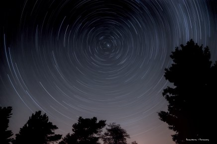Star trails at Starfest