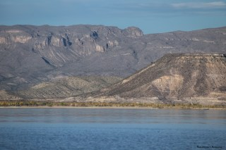 Elephant Butte reservoir, fed by the Rio Grande