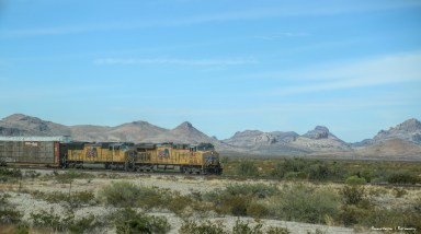 Interstate 10 runs right along the train lines