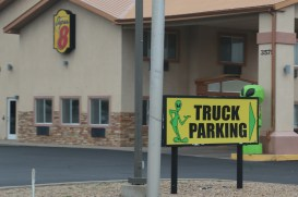 Truck parking with aliens
