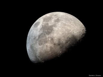 The moon throught the eyepiece of the dobsonian