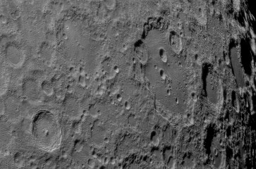 Lunar South Pole with craters Clavius and Tycho being the most prominent