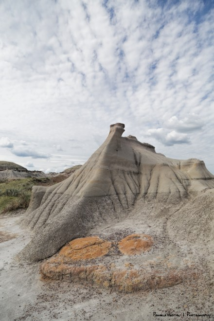 Cloudy skies gave way to sun for the Badlands trail walk