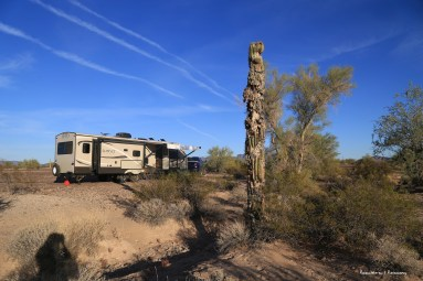 Boondocking on the Road Runner BLM land