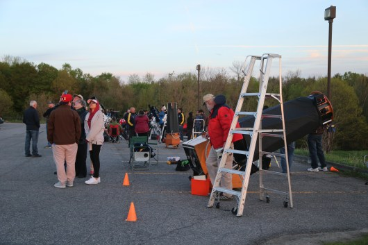Free nightime star Parties-Telescopes from large to small...