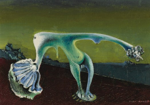 "Chiron in 10th, 11th, 12th Houses: Painting of ""Hermaphrodite"" by Max Ernst"