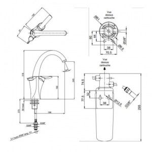 Сменный фильтр для смесителя Jacob Delafon CARAFE E77685-NF