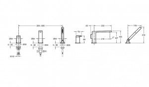 Cмеситель для ванны COMPOSED E73078-CP Jacob Delafon