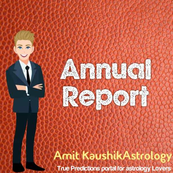 Annual Report Amit Kaushik Astrology