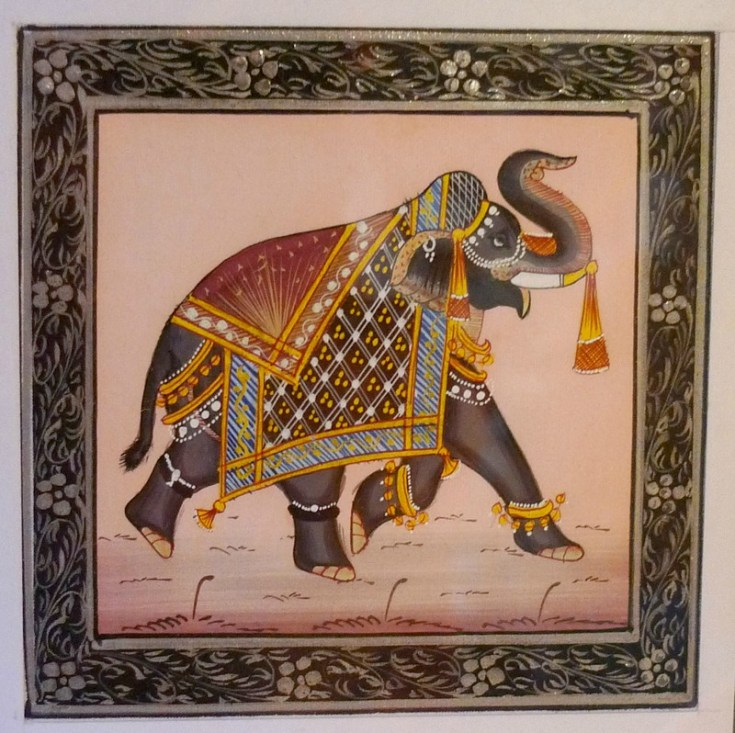 elephant painting at home vastu astrology