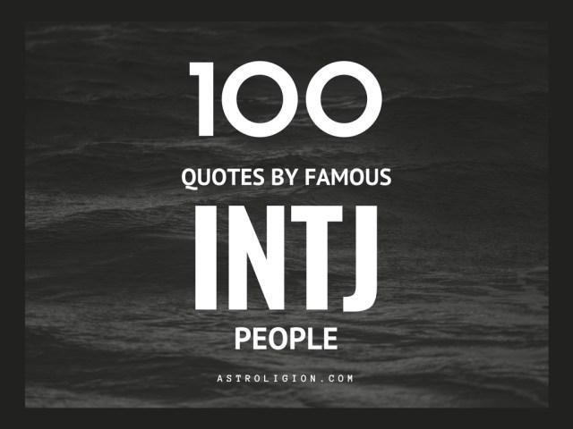 INTJ life quotes