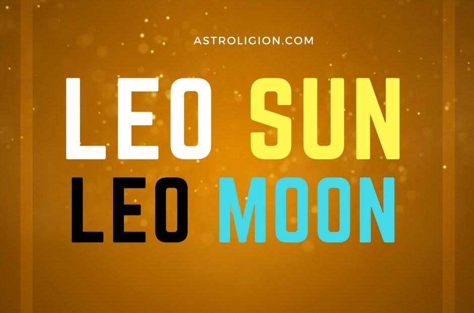 Leo Sun Leo Moon