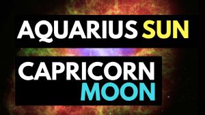 aquarius sun capricorn moon personality