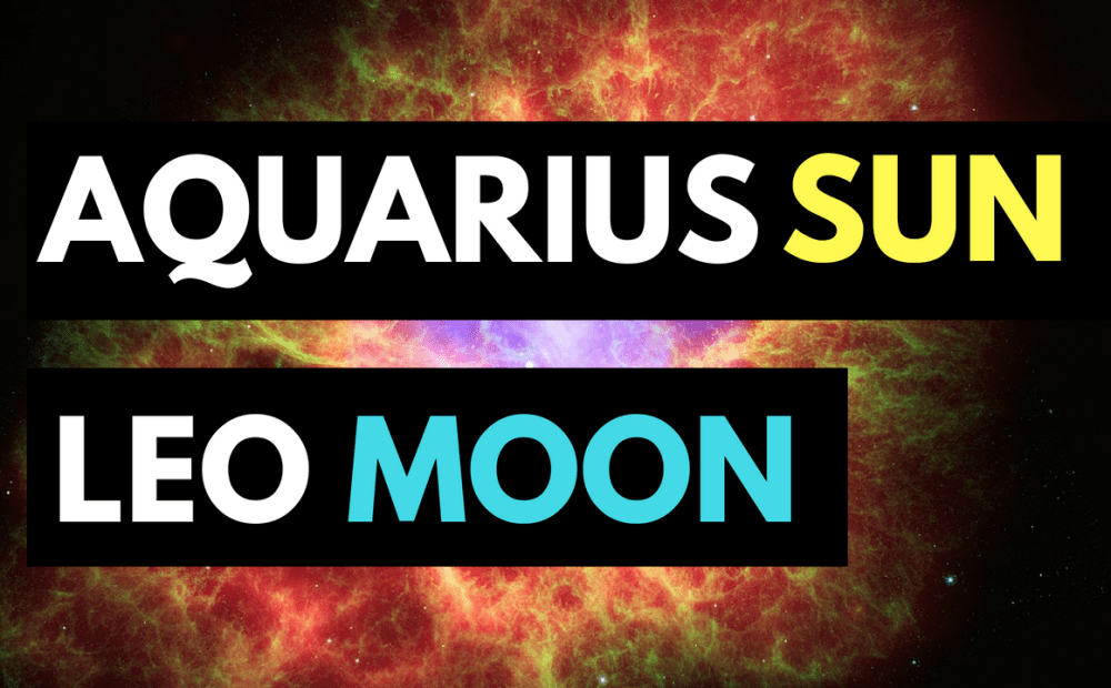 aquarius sun leo moon personality