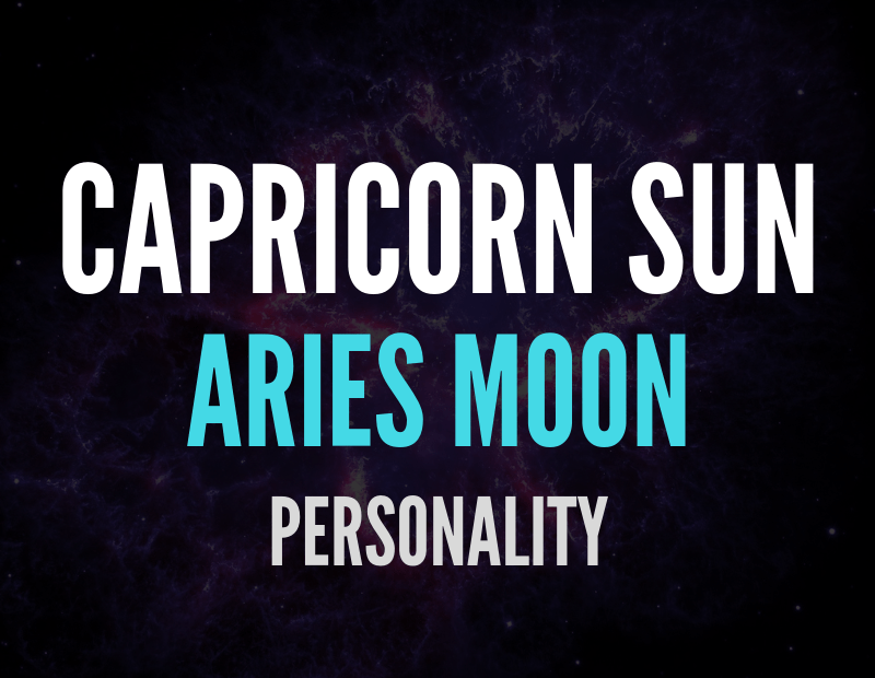 sun in capricorn moon in aries