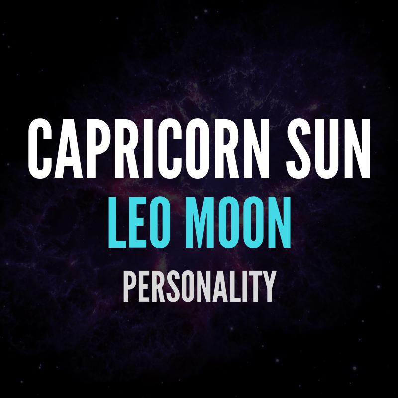 Capricorn Sun Leo Moon Personality | astroligion com