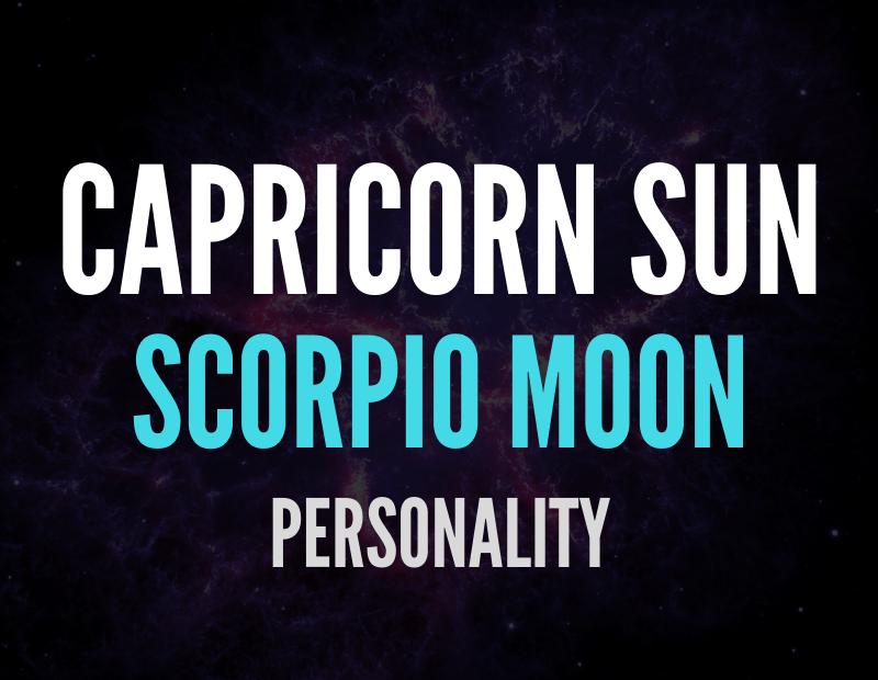 sun in capricorn moon in scorpio