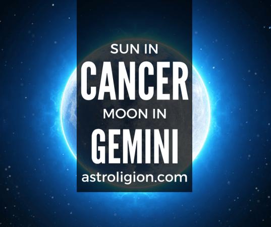 Cancer Sun Gemini Moon Personality