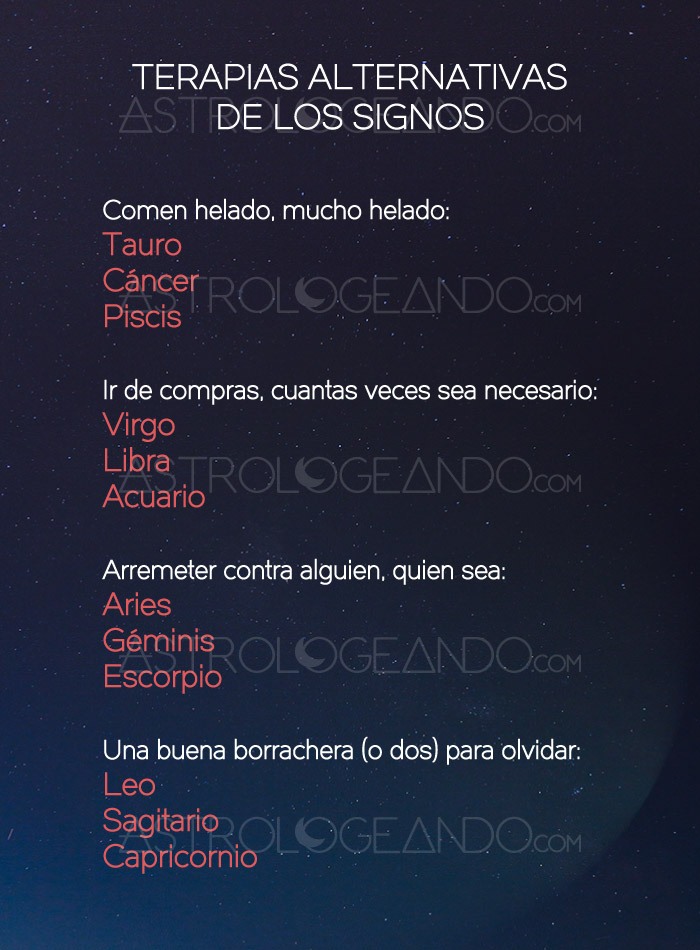 Terapias alternativas de los signos