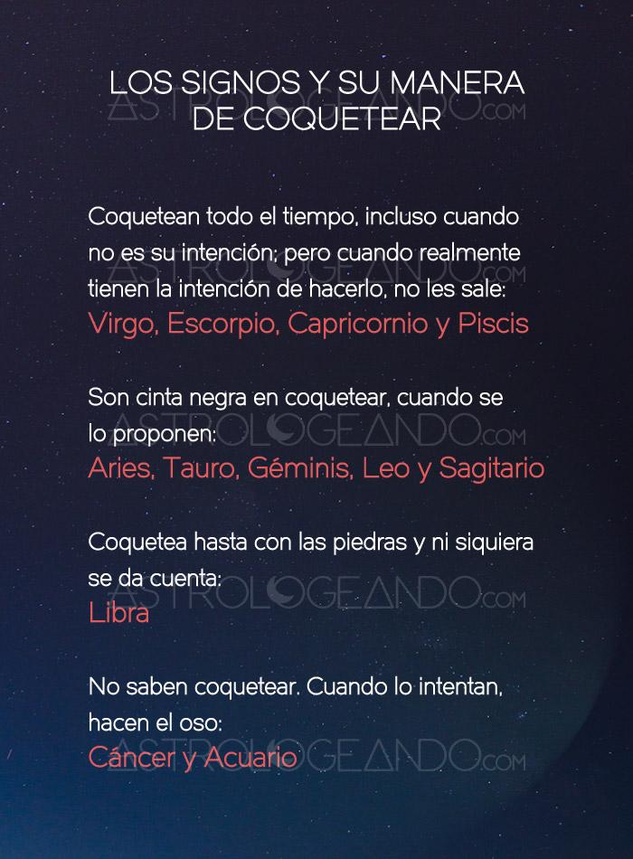 Los signos y su manera de coquetear - Los signos del zodiaco en orden ...