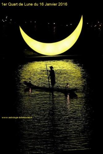 1er Quart de Lune du 16 Janvier