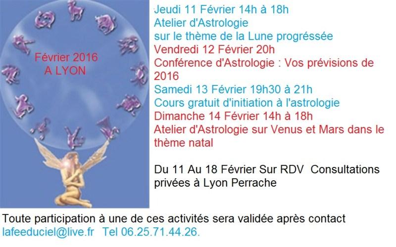 Pour les Lyonnais votre programme d'astrologie du mois de  Février
