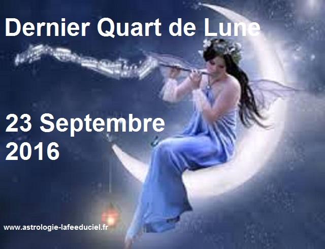 Dernier Quart de Lune du 23 Septembre 2016
