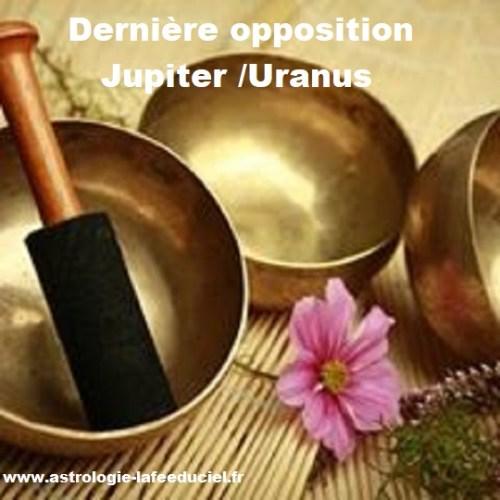 Dernier aspect d'opposition Jupiter en Balance / Uranus en Bélier- en mode écriture-
