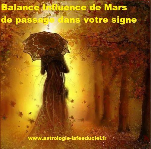 Balance Influence de Mars de passage dans votre signe - en mode écriture-
