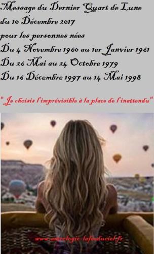 Message du Dernier Quart de Lune pour les personnes nées  du 4 Novembre 1960 au 1er Janvier 1961 du 26 Mai au 4 Octobre 1979 du 16 Décembre 1997 au 14 Mai 1998